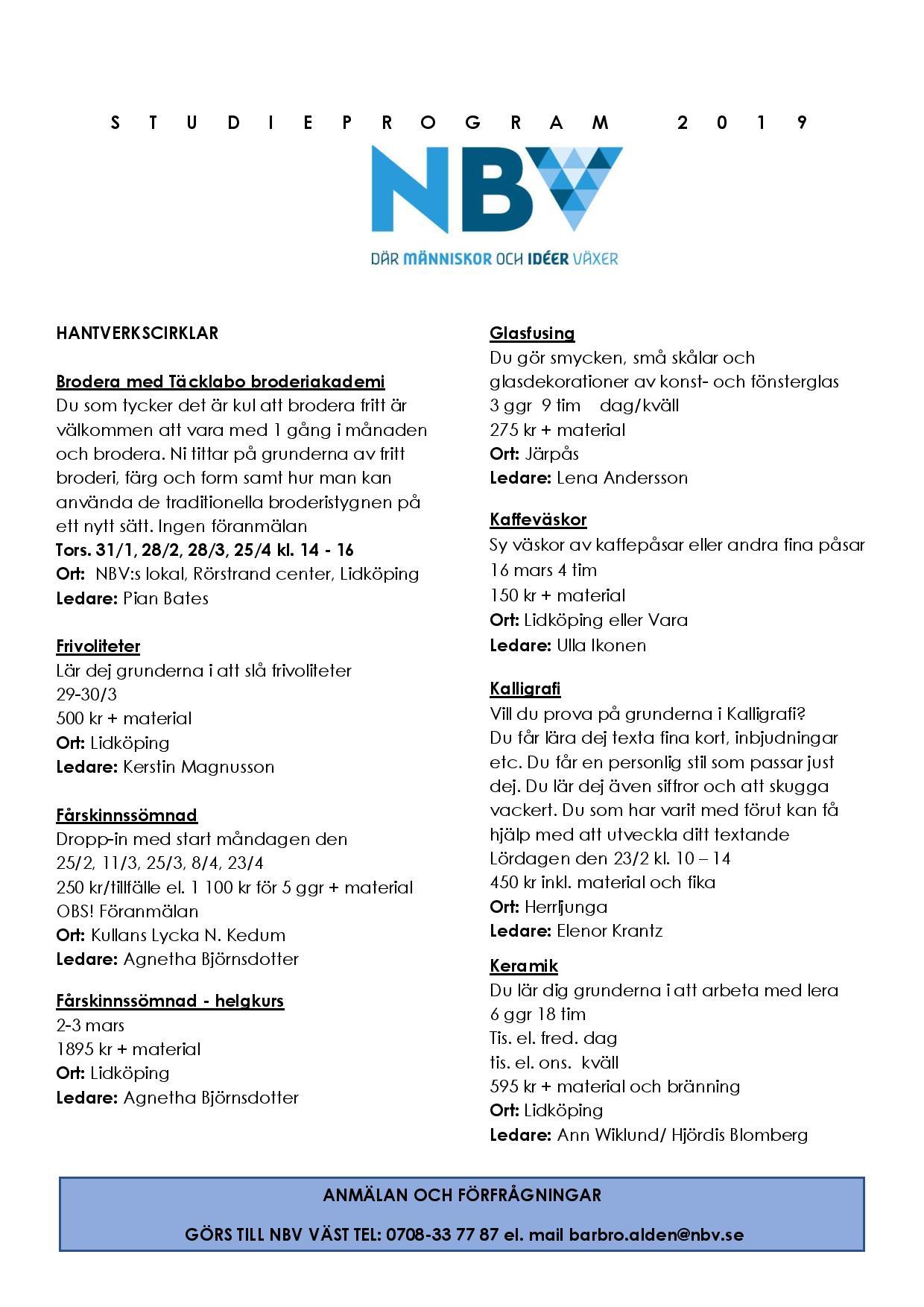 Studieprogram Lidköping och Vara kommun - NBV 45421edc95100